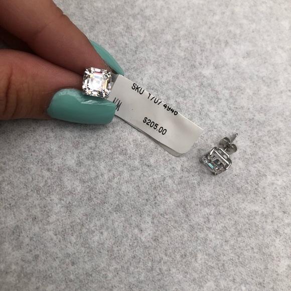 Neiman Marcus Jewelry - Neiman Marcus square CZ stud 14kt white gold